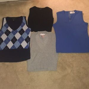 4 Sweater vest bundle!!